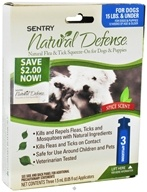 Sergeant's Pet Care - Sentry Natural Defense Flea & Tick Squeeze-On For Dogs Under 15 lbs. Spice Scent - 3 Applications