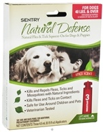 Image of Sergeant's Pet Care - Sentry Natural Defense Flea & Tick Squeeze-On For Dogs 40 lbs. & Over Spice Scent - 3 Applications