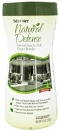 Image of Sergeant's Pet Care - Sentry Natural Defense Flea & Tick Carpet Powder Spice Scent - 10 oz.