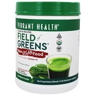Vibrant Health - Field of Greens Raw Food - 426 Grams