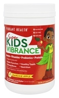 Vibrant Health - Green Vibrance Junior For Toddlers & Tweens Green Foods Apple-icious - 8.26 oz.