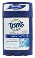 Tom's of Maine - All Natural Long Lasting Men's Wide Deodorant Stick Clean Confidence - 2.25 oz. (077326835272)