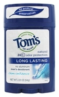 Image of Tom's of Maine - All Natural Long Lasting Men's Wide Deodorant Stick Clean Confidence - 2.25 oz.