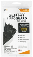Sergeant's Pet Care - Sentry FiproGuard For Dogs Up To 22 lbs. - 3 Applications, CLEARANCE PRICED