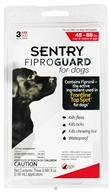 Sergeant's Pet Care - Sentry FiproGuard For Dogs 45-88 lbs. - 3 Applications