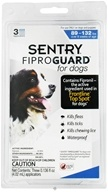 Image of Sergeant's Pet Care - Sentry FiproGuard For Dogs 89-132 lbs. - 3 Applications,CLEARANCE PRICED