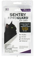 Sergeant's Pet Care - Sentry FiproGuard For Cats Of All Weights - 3 Applications - $20.99
