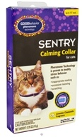 Sergeant's Pet Care - Sentry Good Behavior Pheromone Calming Collar For Cats Lavender Chamomile Fragrance - 15 in.