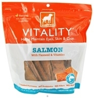 Dogswell - Vitality Dog Treats With Flaxseed & Vitamins Salmon Jerky - 15 oz.