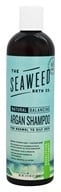 Seaweed Bath Company - Wildly Natural Seaweed Argan Shampoo with Argan Oil From Morocco Eucalyptus & Peppermint Scent - 12 oz.