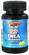 Image of Barlean's - Omega Kid's DHA Bubbles Orange Cream Flavor 250 mg. - 90 Chewable Softgels