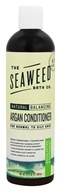 Seaweed Bath Company - Wildly Natural Seaweed Argan Conditioner with Argan Oil From Morocco Eucalyptus & Peppermint Scent - 12 oz.