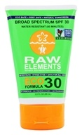 Raw Elements - Eco Formula Sunscreen 30 SPF - 3 oz. by Raw Elements