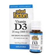 Natural Factors - Vitamin D3 Drops 1000 IU - 0.5 oz. (068958010557)