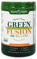 Green Foods - Green Fusion Organic Greens 30 Billion Probiotic Cells - 10.4 oz. by Green Foods