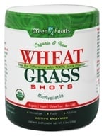 Green Foods - Wheat Grass Shots Organic and Raw - 5.3 oz., from category: Nutritional Supplements