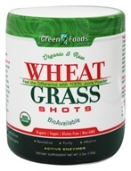 Green Foods - Wheat Grass Shots Organic and Raw - 5.3 oz. (083851203332)