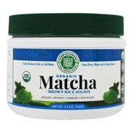 Green Foods - Organic Matcha Green Tea + Brown Rice Solids - 5.5 oz.