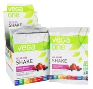 Vega - All-in-One Nutritional Shake Berry - 10 x 1.5 oz. (42.5g) Packet by Vega