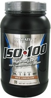 Dymatize Nutrition - ISO 100 100% Hydrolyzed Whey Protein Isolate Gourmet Chocolate - 1.6 lbs. by Dymatize Nutrition