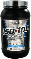 Dymatize Nutrition - ISO 100 100% Hydrolyzed Whey Protein Isolate Gourmet Vanilla - 1.6 lbs. by Dymatize Nutrition