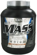 Image of Dymatize Nutrition - Elite Mass Gainer Hi-Protein Muscle Gainer Double Chocolate - 3.3 lbs.