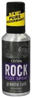 Crystal Body Deodorant - Rock Deodorant Men's Body Spray Granite Rain - 4 oz. by Crystal Body Deodorant