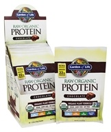 Garden of Life - RAW Protein Beyond Organic Protein Formula (15 x 23 g) Chocolate Cacao - 15 Packet(s) - (345 g) (658010116152)