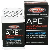 Athletic Edge Nutrition - APE Alpha Performance Enhancer Testosterone Optimizer - 40 Capsules - $39.99