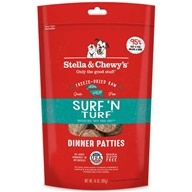 Stella & Chewy's - Freeze-Dried Dog Food Dinner Patties Surf 'N Turf - 15 oz.