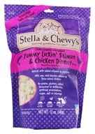 Image of Stella & Chewy's - Freeze-Dried Cat Food Yummy Lickin' Salmon & Chicken Dinner - 12 oz.