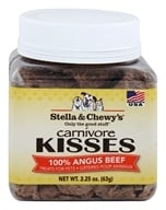 Stella & Chewy's - Carnivore Kisses Dog Treats 100% Angus Beef - 2.25 oz.