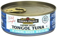 Crown Prince Natural - Chunk Light Tongol Tuna - 5 oz., from category: Health Foods