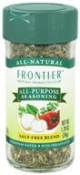 Frontier Natural Products - All-Purpose Seasoning Salt-Free Blend - 1.2 oz. CLEARANCE PRICED (089836189035)