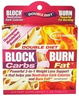 Applied Nutrition - Double Diet Block Carbs Burn Fat with White Kidney Bean Extract - 20 Tablets