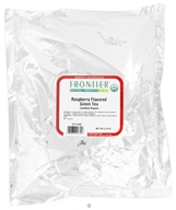 Frontier Natural Products - Bulk Green Tea Organic Raspberry - 1 lb.