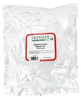 Frontier Natural Products - Bulk Green Kukicha Tea Organic Blueberry - 1 lb. CLEARANCE PRICED