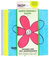 Skoy Cloth - Reusable Multi-Use Cleaning Cloth Eco-Friendly Assorted Colors - 4 Pack by Skoy Cloth