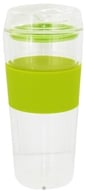 Takeya USA - Double Wall Glass Tumbler and Lid with Green Silicone Grip - 16 oz. by Takeya USA