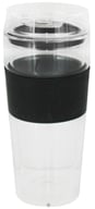 Image of Takeya USA - Double Wall Glass Tumbler and Lid with Black Silicone Grip - 16 oz.