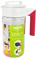 Image of Takeya USA - Airtight Jug White/Raspberry - 40 oz.