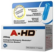 BPI Sports - A-HD Ultra-Concentrated Testosterone Booster Large Size 250 mg. - 42 Capsules (851780003565)