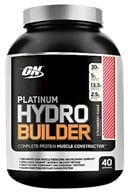 Image of Optimum Nutrition - Platinum Hydrobuilder Strawberry Shake 40 Servings - 4.59 lbs.
