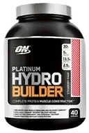 Optimum Nutrition - Platinum Hydrobuilder Strawberry Shake 40 Servings - 4.59 lbs. by Optimum Nutrition