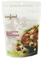 Sunfood Superfoods - Organic Snack Mix Berry Adventure - 8 oz. by Sunfood Superfoods