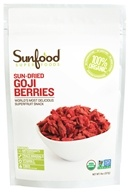 Image of Sunfood Superfoods - Sun-dried Goji Berries Superfruit Snack - 8 oz.