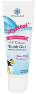 Branam Oral Health - Xylitol Tooth Gel for Babies and Toddlers All Natural Yum Yum Bubblegum - 4 oz.