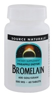 Source Naturals - Bromelain Pineapple Enzyme 600 GDU/Gram 500 mg. - 60 Tablets by Source Naturals