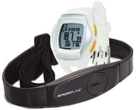 Sportline - Duo 1060 Dual-Use Heart Rate Monitor Watch Designed For Women White - 1 Monitor(s) - $91