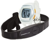 Sportline - Duo 1060 Dual-Use Heart Rate Monitor Watch Designed For Women White - 1 Monitor(s)